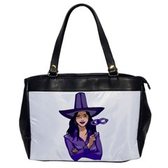 Purple Witch Oversize Office Handbag (one Side) by FunWithFibro