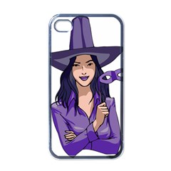 Purple Witch Apple Iphone 4 Case (black) by FunWithFibro