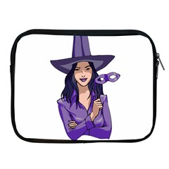 Purple Witch Apple Ipad Zippered Sleeve by FunWithFibro
