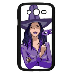 Purple Witch Samsung Galaxy Grand Duos I9082 Case (black) by FunWithFibro