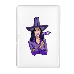 Purple Witch Samsung Galaxy Tab 2 (10 1 ) P5100 Hardshell Case  by FunWithFibro