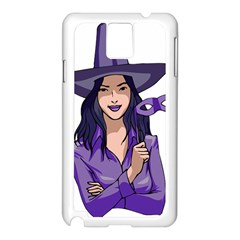 Purple Witch Samsung Galaxy Note 3 N9005 Case (white) by FunWithFibro