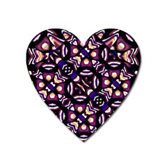 Colorful Tribal Pattern Print Magnet (heart) by dflcprints