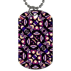 Colorful Tribal Pattern Print Dog Tag (one Sided) by dflcprints