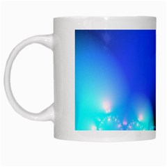 Love In Action, Pink, Purple, Blue Heartbeat White Mug
