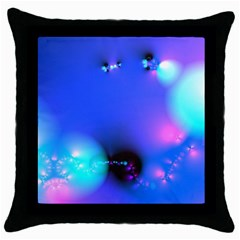 Love In Action, Pink, Purple, Blue Heartbeat 10000x7500 Black Throw Pillow Case by DianeClancy
