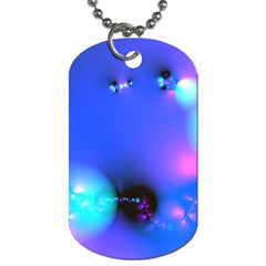 Love In Action, Pink, Purple, Blue Heartbeat 10000x7500 Dog Tag (one Sided) by DianeClancy