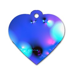 Love In Action, Pink, Purple, Blue Heartbeat 10000x7500 Dog Tag Heart (one Sided)  by DianeClancy