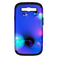 Love In Action, Pink, Purple, Blue Heartbeat 10000x7500 Samsung Galaxy S Iii Hardshell Case (pc+silicone) by DianeClancy