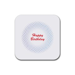 Halftone Circle With Squares Drink Coasters 4 Pack (square) by rizovdesign
