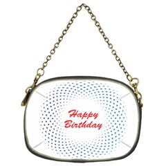 Halftone Circle With Squares Chain Purse (one Side) by rizovdesign