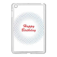 Halftone Circle With Squares Apple Ipad Mini Case (white) by rizovdesign