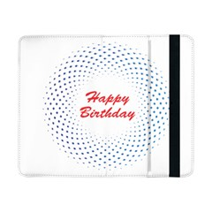Halftone Circle With Squares Samsung Galaxy Tab Pro 8 4  Flip Case by rizovdesign