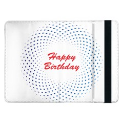 Halftone Circle With Squares Samsung Galaxy Tab Pro 12 2  Flip Case