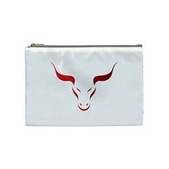 Stylized Symbol Red Bull Icon Design Cosmetic Bag (medium) by rizovdesign