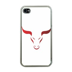 Stylized Symbol Red Bull Icon Design Apple Iphone 4 Case (clear) by rizovdesign