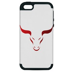 Stylized Symbol Red Bull Icon Design Apple Iphone 5 Hardshell Case (pc+silicone) by rizovdesign