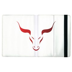 Stylized Symbol Red Bull Icon Design Apple Ipad 3/4 Flip Case by rizovdesign