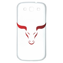 Stylized Symbol Red Bull Icon Design Samsung Galaxy S3 S Iii Classic Hardshell Back Case by rizovdesign