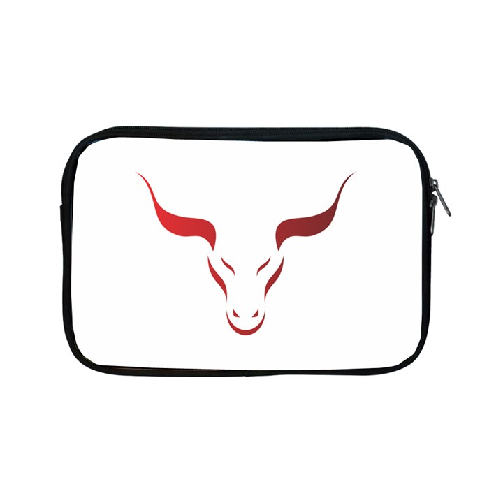 Stylized Symbol Red Bull Icon Design Apple iPad Mini Zippered Sleeve