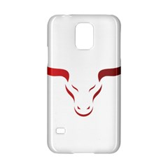 Stylized Symbol Red Bull Icon Design Samsung Galaxy S5 Hardshell Case  by rizovdesign