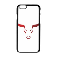 Stylized Symbol Red Bull Icon Design Apple Iphone 6 Black Enamel Case by rizovdesign