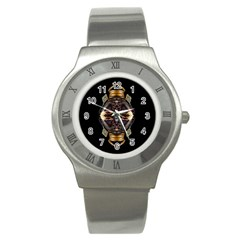 African Goddess Stainless Steel Watch (slim) by icarusismartdesigns