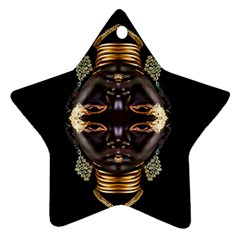 African Goddess Star Ornament (two Sides) by icarusismartdesigns
