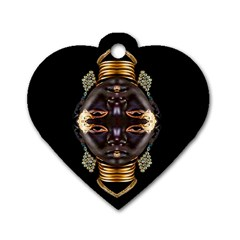 African Goddess Dog Tag Heart (one Sided)  by icarusismartdesigns