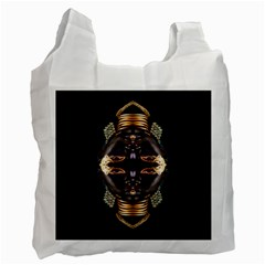 African Goddess White Reusable Bag (one Side) by icarusismartdesigns