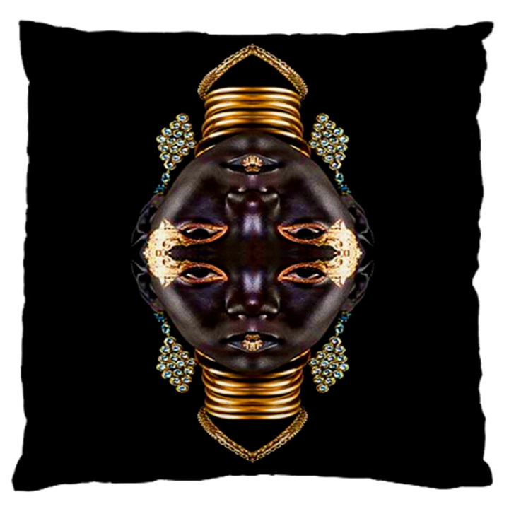 African Goddess Large Cushion Case (Single Sided)
