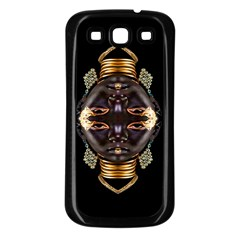 African Goddess Samsung Galaxy S3 Back Case (black) by icarusismartdesigns