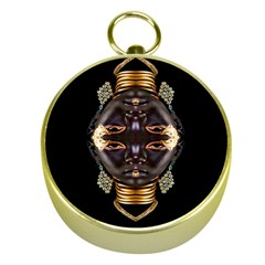 African Goddess Gold Compass by icarusismartdesigns