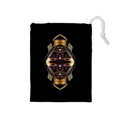 African Goddess Drawstring Pouch (medium) by icarusismartdesigns