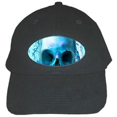 Skull In Water Black Baseball Cap by icarusismartdesigns