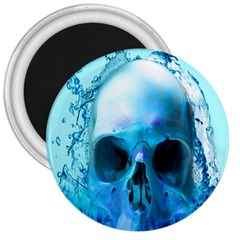 Skull In Water 3  Button Magnet by icarusismartdesigns