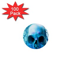 Skull In Water 1  Mini Button (100 Pack)