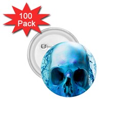 Skull In Water 1 75  Button (100 Pack)