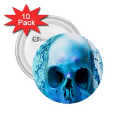 Skull In Water 2 25  Button (10 Pack) by icarusismartdesigns