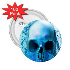 Skull In Water 2 25  Button (100 Pack) by icarusismartdesigns