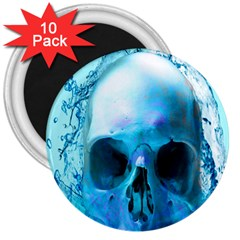 Skull In Water 3  Button Magnet (10 Pack) by icarusismartdesigns