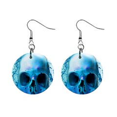 Skull In Water Mini Button Earrings