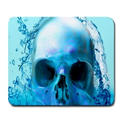 Skull In Water Large Mouse Pad (rectangle) by icarusismartdesigns