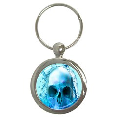 Skull In Water Key Chain (round) by icarusismartdesigns