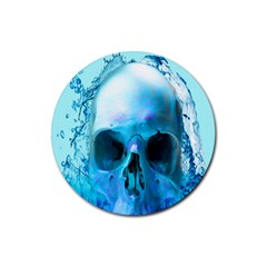 Skull In Water Drink Coaster (round)