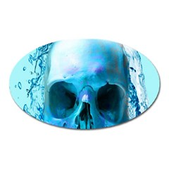 Skull In Water Magnet (oval)