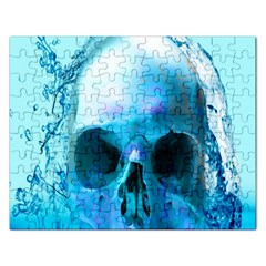 Skull In Water Jigsaw Puzzle (rectangle) by icarusismartdesigns