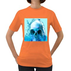 Skull In Water Women s T Shirt (colored) by icarusismartdesigns
