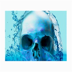 Skull In Water Glasses Cloth (small) by icarusismartdesigns