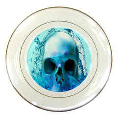 Skull In Water Porcelain Display Plate
